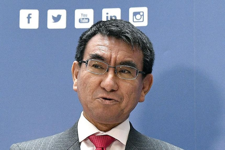 Foreign Minister Taro Kono mostly toes the party line, but sometimes the rebel in him peeks through.