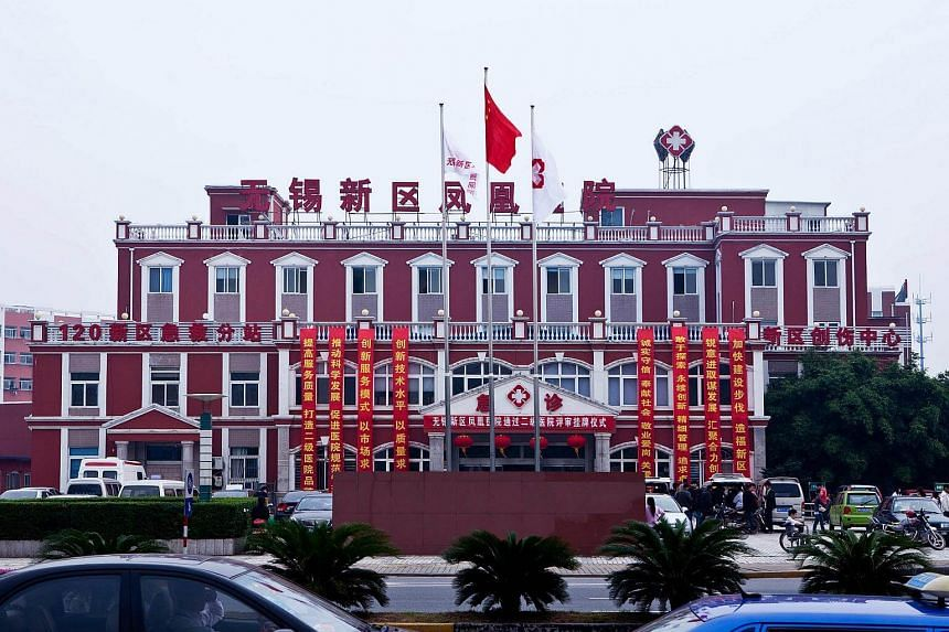 OUE Lippo Healthcare's Wuxi Hospital in China that is being expanded to an 800-bed facility.