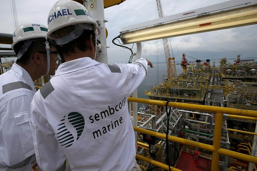 Sembcorp Marine's stock price plunged by 12 per cent in the last 20 minutes of trading hours on Feb 12.