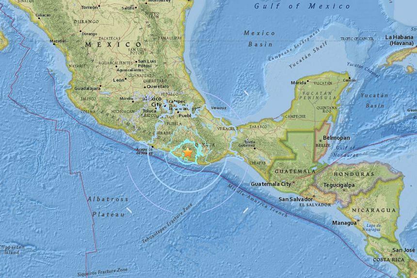An earthquake of magnitude 6.1 struck near Oaxaca in Mexico early on Feb 19, 2018.