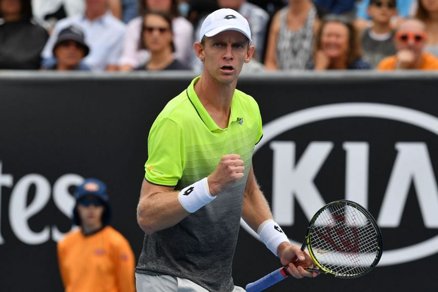Kevin Anderson (pictured) defeated Sam Querry to win the New York Open on Feb 18, 2018.