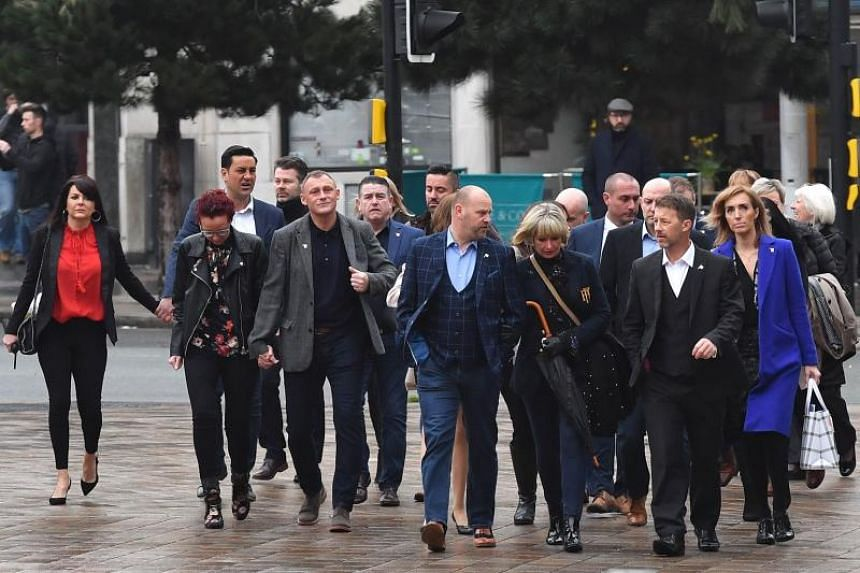 Victims of former football coach Barry Bennell arriving at the Liverpool Crown Court for the sentencing, on Feb 19, 2018.