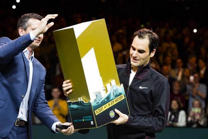 Roger Federer officially replaced Andre Afassi as the oldest world No. 1 on Feb 19, 2018.