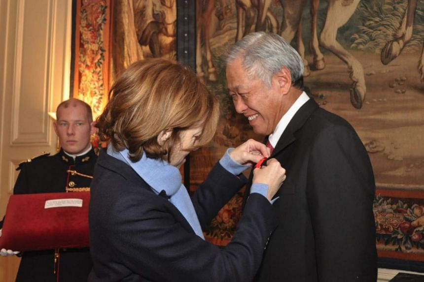 The Legion of Honour conferred to Defence Minister Ng Eng Hen is France's highest award to recognise outstanding service by civilians or military personnel.