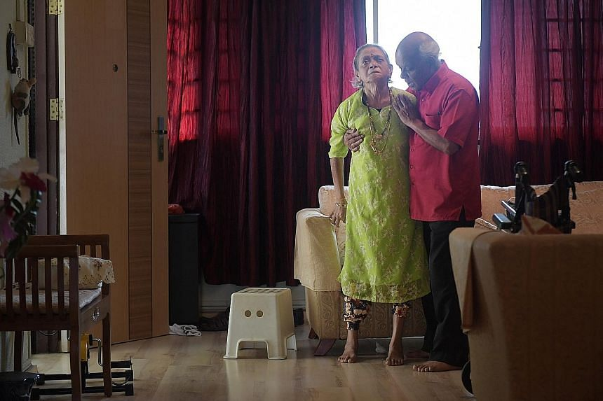 Caring for Madam Kaliammal Narayanasamy Krishnasamy took a toll on Mr Chandra Mogan, who thought he would have to admit her to a nursing home. But he has got help through the Community Networks for Seniors programme, and various grants to make home h