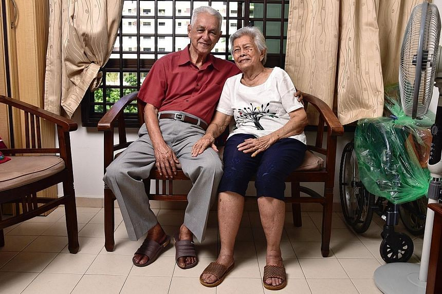 Mr Willie Fox and his wife Lena joined the Community Networks for Seniors scheme two years ago when it was piloted in Tampines. They have taken part in activities such as exercises and bingo games organised by the senior activities centre near their