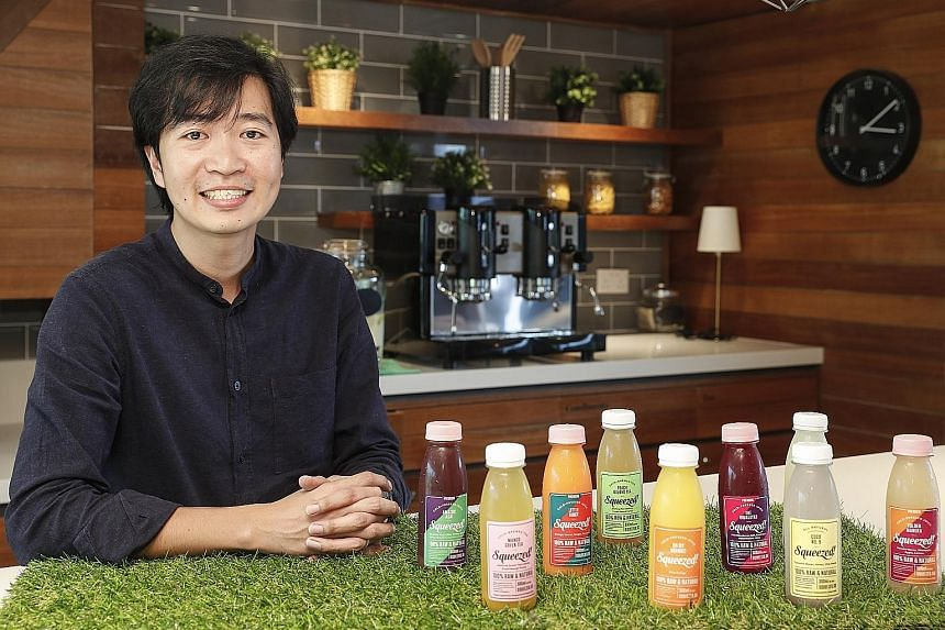 """Juicy Folks director Alvin Tam backs a tighter-knit food production sector and would like to see an industry cluster that is """"vertically integrated"""" from raw material supply to last-mile delivery. His company is a joint venture of juice vendor Squeez"""