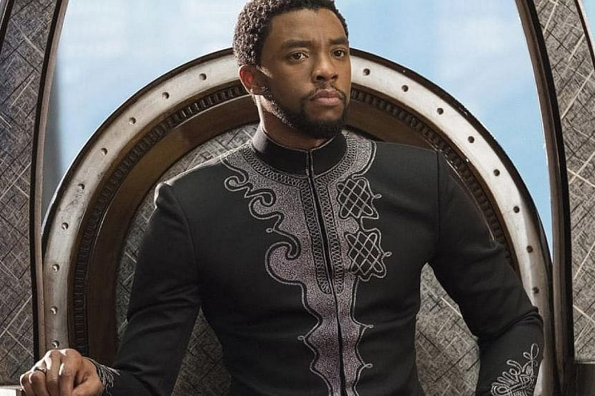 Black Panther stars Chadwick Boseman as T'Challa.