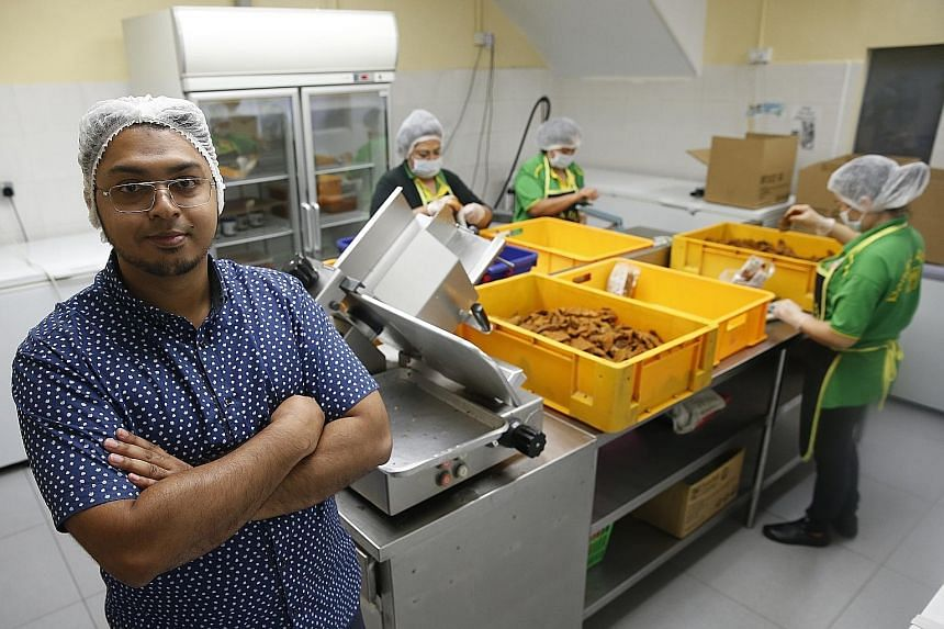 The new Enterprise Development Grant will help Mr Hasan Abdul Rahman's Pondok Abang, which produces halal ready-to-eat meals and frozen food, to expand.