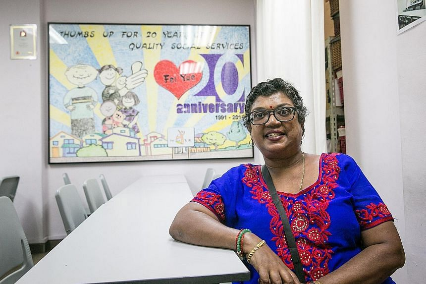 Madam Patma Gopal, a volunteer befriender with Fei Yue Community Services, visits an elderly couple who have two adult sons with disabilities two or three times a month. She was cited by Finance Minister Heng Swee Keat yesterday as someone who makes