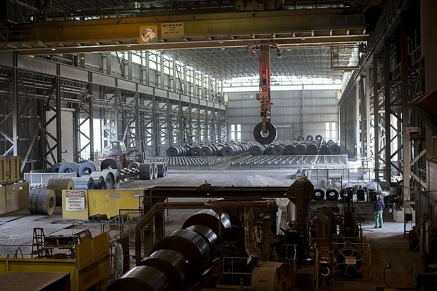 A steel plant in Huger, South Carolina. US President Donald Trump's administration is weighing tariffs as high as 53 per cent on steel and 23.6 per cent on aluminium, with the aim of boosting US output.