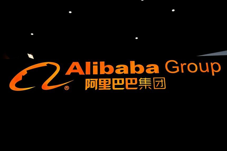 The logo of Alibaba Group is seen during the fourth World Internet Conference in Wuzhen, China, on Dec 3, 2017.