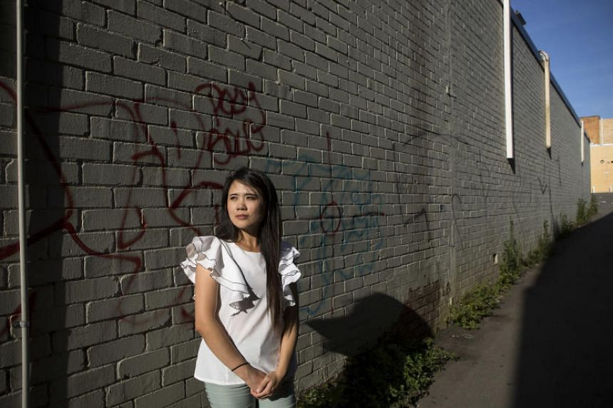 Man-Tzu Tuan, who was fired from her job at a restaurant in Sydney after her boss asked her whether Taiwan was part of China, in the Sydney suburb of Lidcombe, Australia, on Feb 10, 2018.