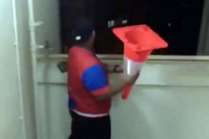 This teenager's act of throwing a traffic cone from a block, filmed by a friend in an Instagram Story, drew attention after the video was shared on Facebook.