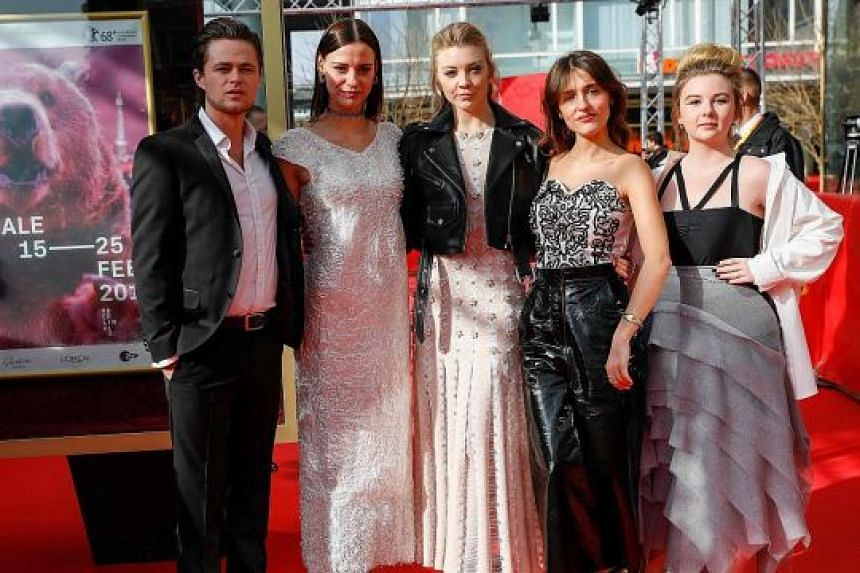 The cast of Picnic At Hanging Rock (from left) actors Harrison Gilbertson, Lily Sullivan, Natalie Dormer, Lola Bessis and Ruby Rees.