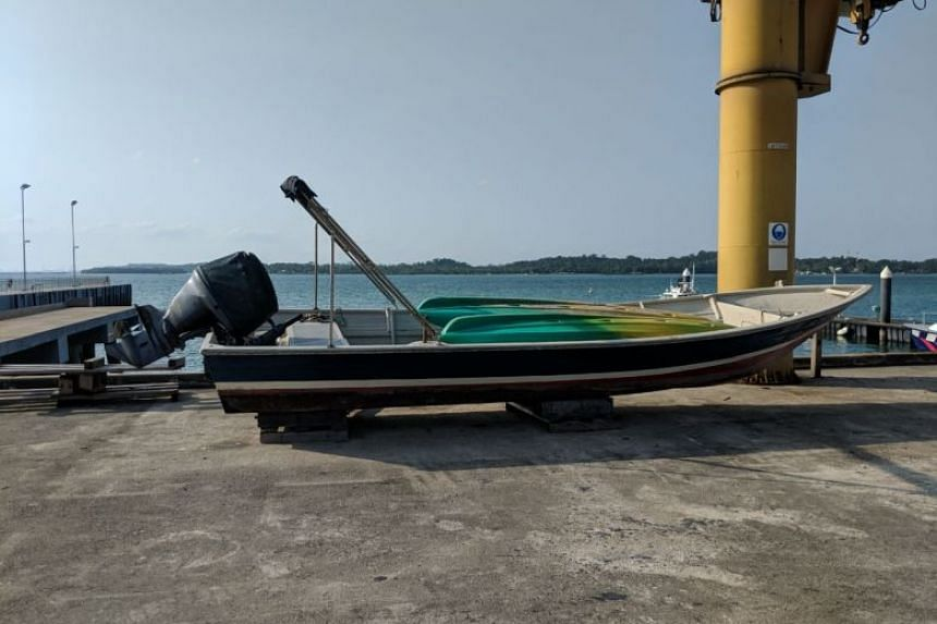 Former City Harvest church leader Chew Eng Han was caught in a motorised sampan (above) while trying to flee Singapore, on Feb 21, 2018.