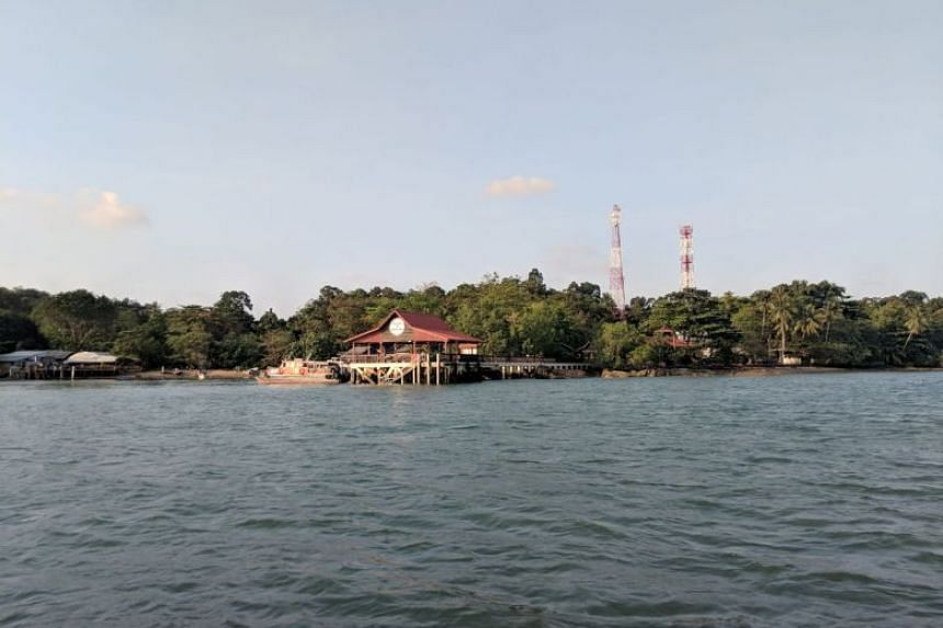 The jetty at Pulau Ubin, where Chew Eng Han was picked up by the motorised sampan.