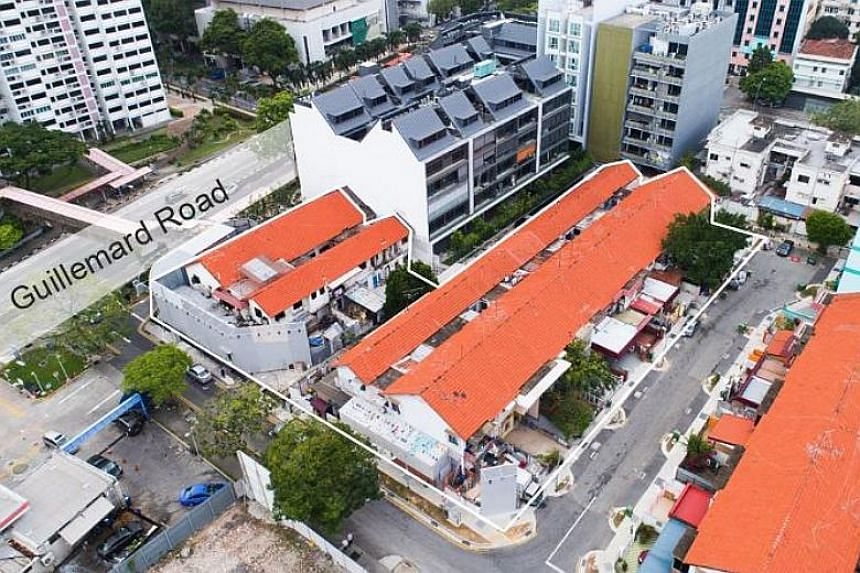 The site comprises 15 two-storey terrace houses that are within walking distance from the Mountbatten, Dakota and Aljunied MRT stations.