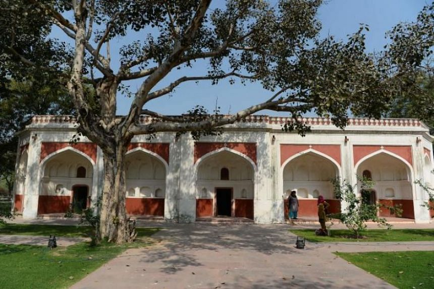 The renovated Sunderwala Mahal in Sunder Nursery, a 16th-century heritage garden complex adjacent to Indian Unesco site Humayun's Tomb, in New Delhi.