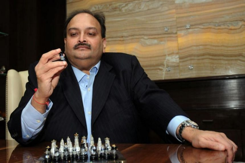Mehul Choksi, India's jewellery king and Nirav Modi (not pictured) have been accused by investigators of defrauding the Punjab National Bank of 2.8 billion rupees (S$57 million), part of the total losses.