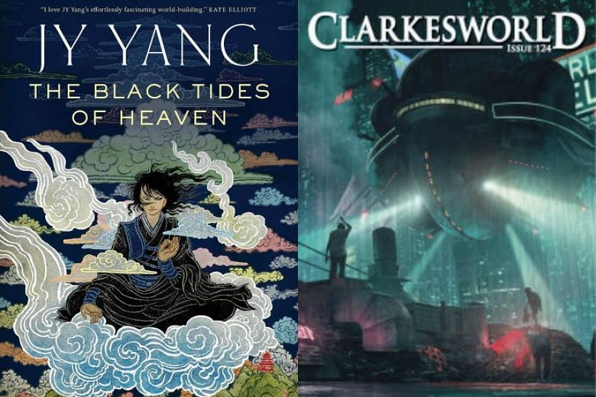 The Black Tides Of Heaven (left) by JY Yang and A Series Of Steaks by Vina Jie-Min Prasad.