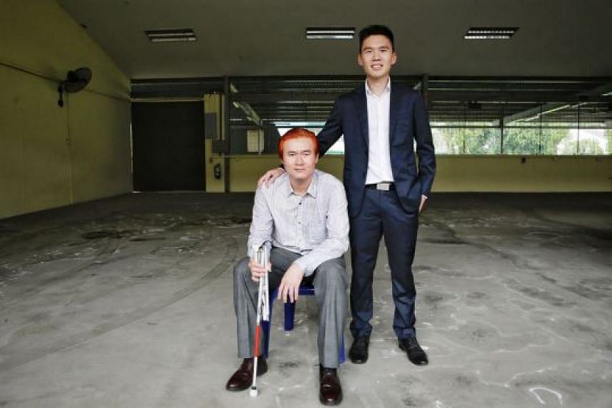 Glow in the Dark co-founder Jared Sia (right), 27, with para-athlete Steve Tee, 36, one of the social enterprise's six trainers who conduct public speaking workshops and motivational talks.