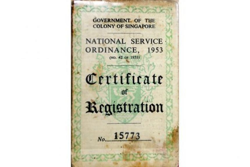 (Above) Mr Wyatt's National Service Ordinance registration card.