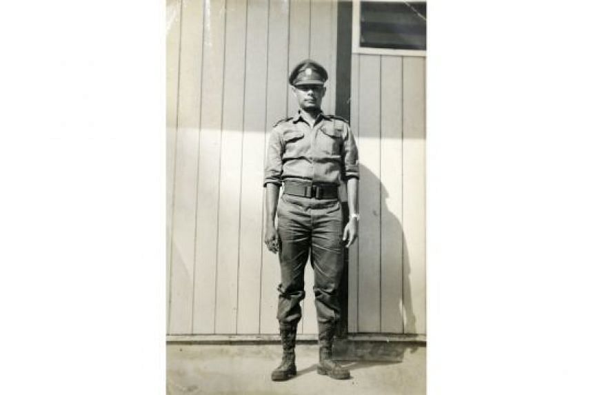 Captain Wyatt around 1969. He was then the Ministry of Interior and Defence's first uniformed public relations officer.