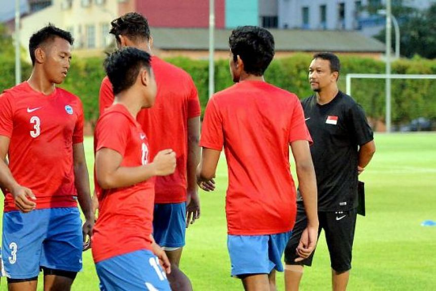 Fandi Ahmad, seen overseeing his first training session with the Young Lions last month, hopes his charges can get opportunities to be tested by the top football teams in Asia.