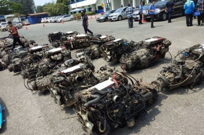 Malaysian police busted a syndicate involved in the theft and export of lorry parts and also seized a container with RM2 million (S$675,830) worth of cannibalised lorry parts.