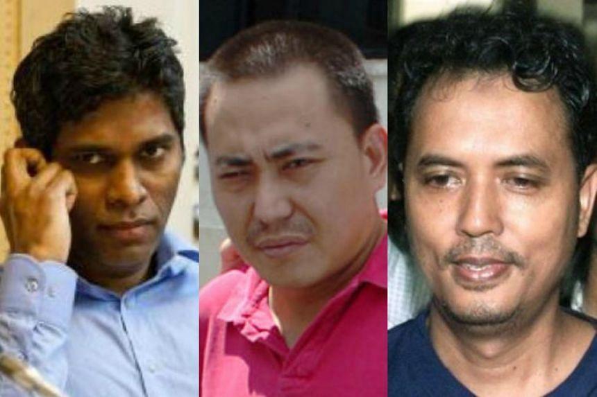 (From left) Match fixer Wilson Raj Perumal, One-Eyed Dragon Tan Chor Jin and terrorist Mas Selamat Kastari have fled Singapore after committing crimes.
