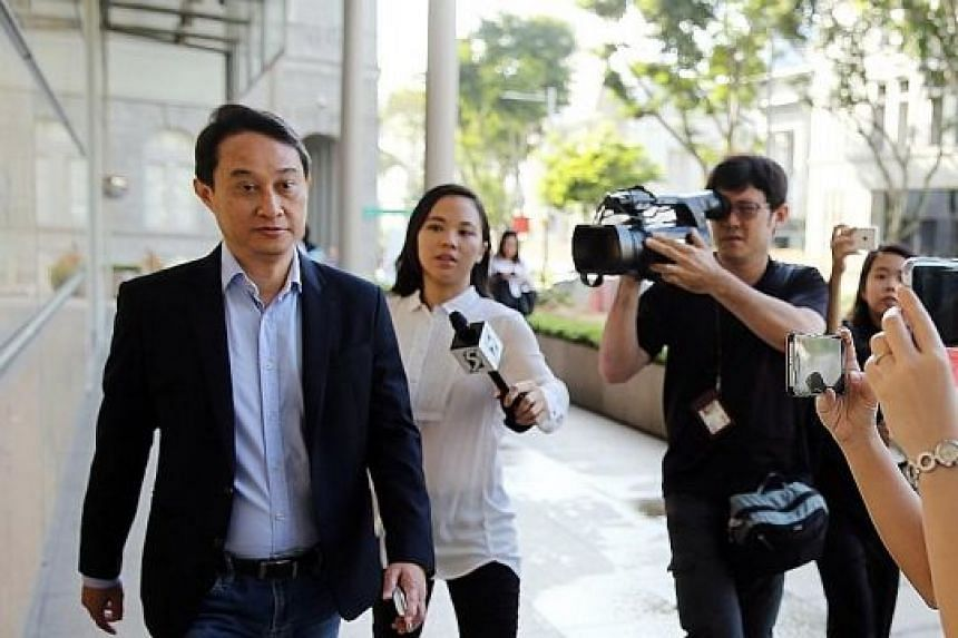 Former CHC fund manager Chew Eng Han at court earlier this month. He said his family found it hard to accept the ruling.