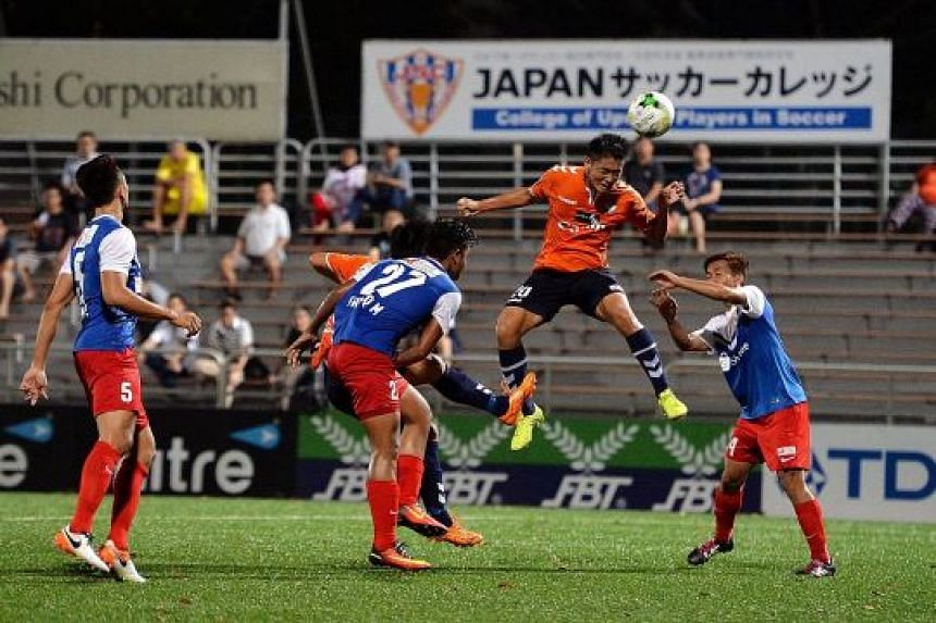 An S-League match between Albirex Niigata (in orange) and the Garena Young Lions in August 2016. The FAS' clampdown on smoking starts with the Young Lions, and is the latest in a slew of changes to the local game, as the S-League is also in the midst