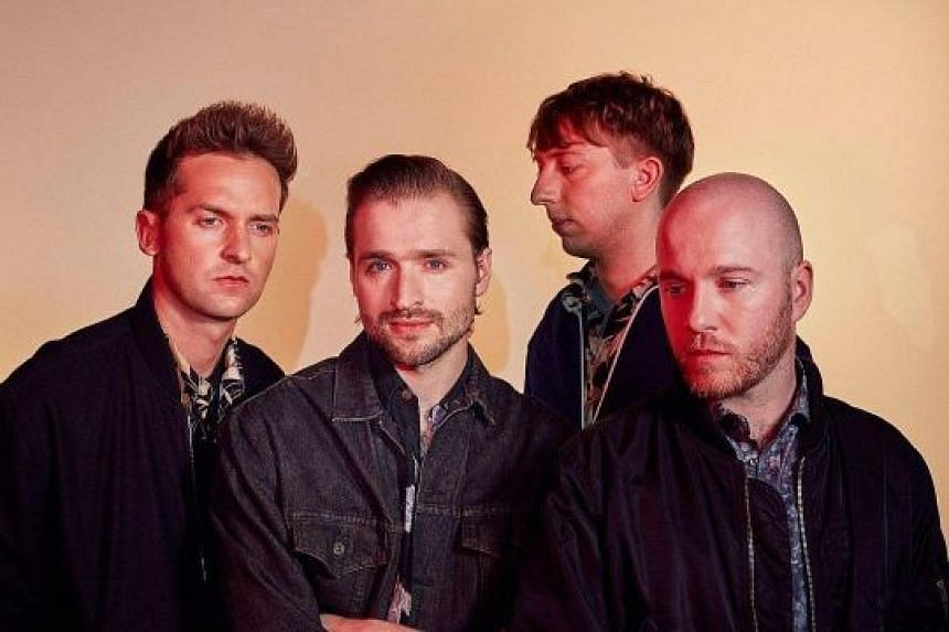(From left) Ben Little, Hayden Thorpe, Chris Talbot and Tom Fleming of English indie rock band Wild Beasts.
