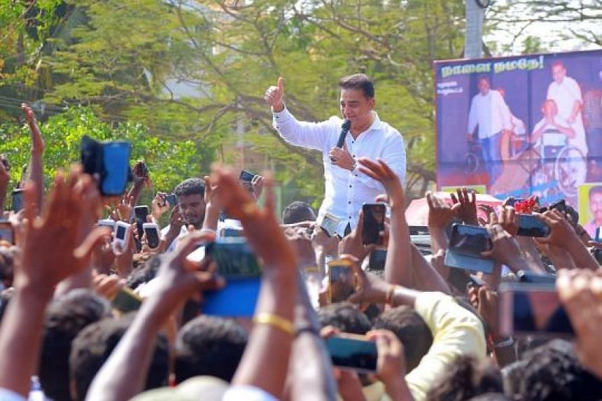 Mr Kamal Haasan at the launch of Makkal Needhi Maiam, or Centre for People's Justice, yesterday. He wants people from different ideologies and backgrounds in his party, and would focus on fighting corruption.