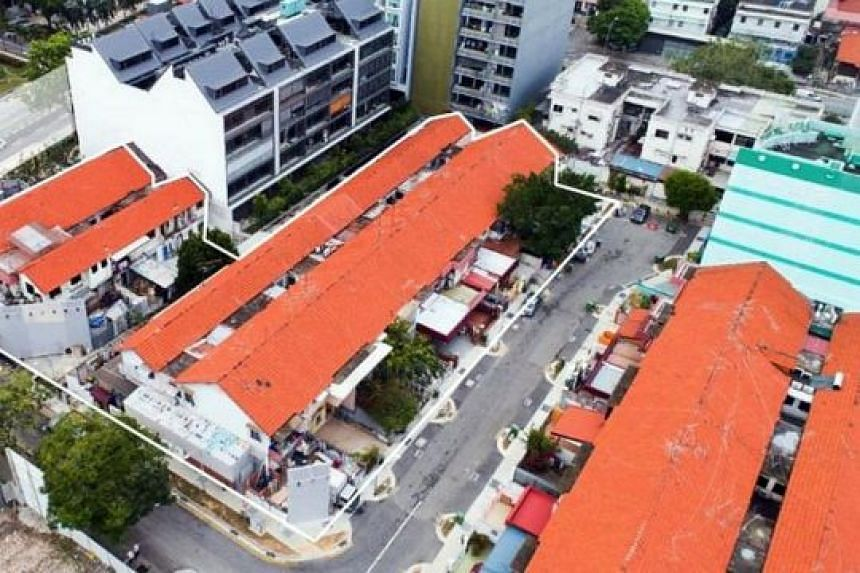 The tender for the 9,999-year leasehold residential site, comprising 15 two-storey terraced houses located at 1 to 21A Jalan Molek and 217 to 223A Guillemard Road, will close at 3pm on March 20.