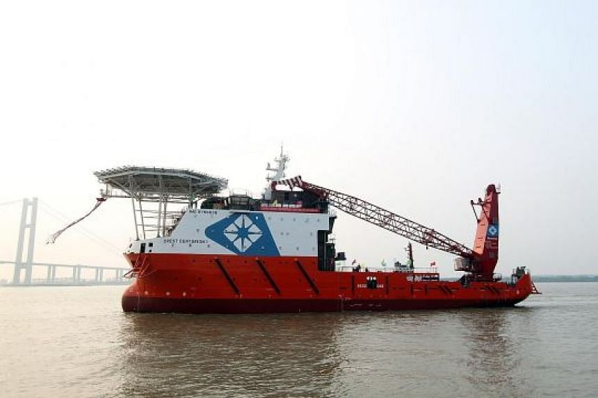 Pacific Radiance's Crest Centurion 1 vessel. The offshore marine group will have up to July 2 to release its full-year and first-quarter results.