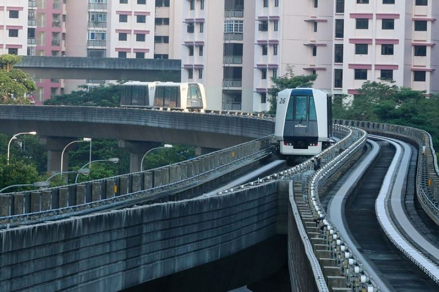 Maintenance works on the Sengkang and Punggol Light Rail Transit systems, which started in January 2018, were stopped for the Chinese New Year festive period.