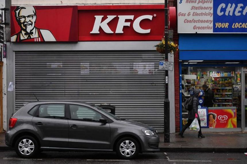 Around 628 of KFC's 900 British outlets were open by mid-afternoon on Feb 21, 2018.