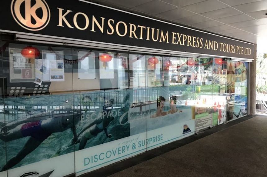 Passengers who turned up at Konsortium Express & Tours' head office at Golden Mile Tower were shocked to find its doors locked and lights turned off.