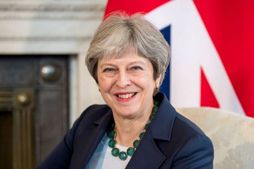 Theresa May during her meeting with Netherland's prime minister Mark Rutte in London, Feb 21, 2018.