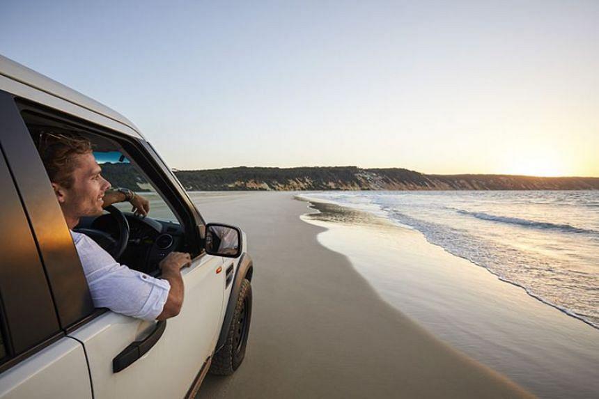 Take on the Great Beach Drive on Rainbow Beach in Australia's Sunshine Coast.