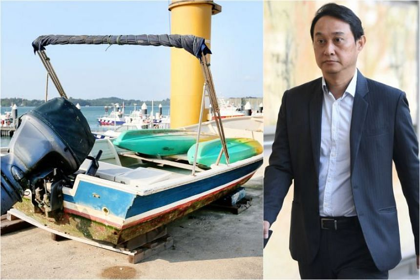 Former City Harvest Church fund manager Chew Eng Han was arrested along with another man at 8.47am on board a motorised sampan.