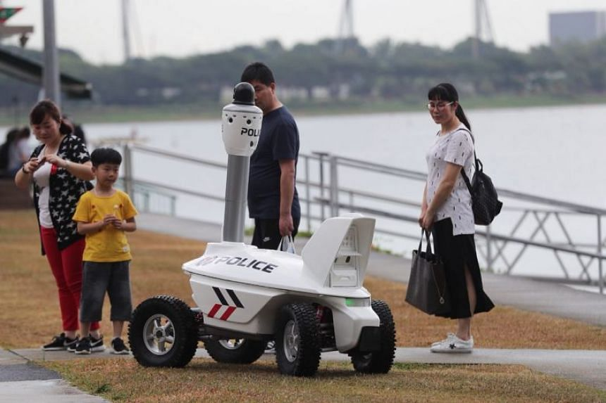 The new police robot will debut at Chingay 2018, where it will be deployed after 8pm to patrol at the end of the parade.