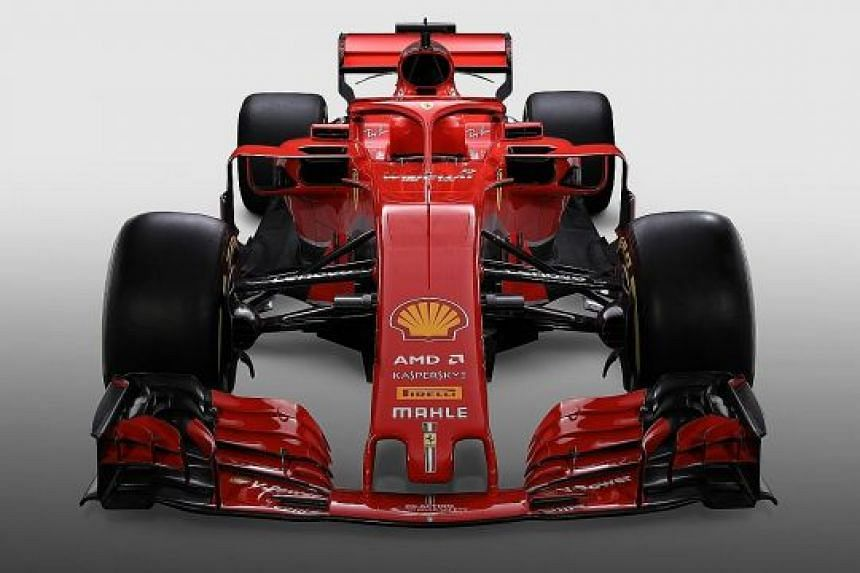 Ferrari's SF71H represents a return to their traditional all-red livery, with the new halo also painted in red.