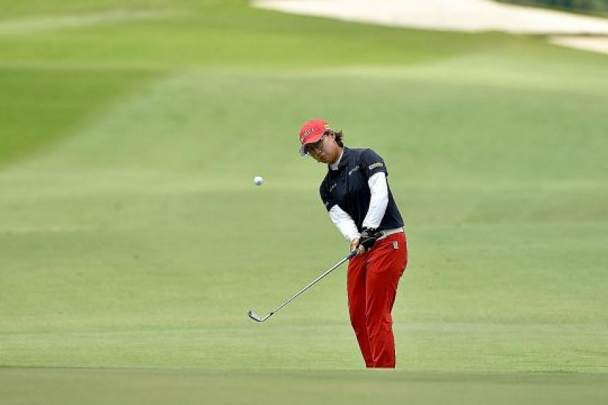 South Korean golfer Jeong Yun Ji fired a four-under 67 for a 136 total and a share of the lead with Thailand's Atthaya Thitikul at the Women's Amateur Asia-Pacific Golf Championship.