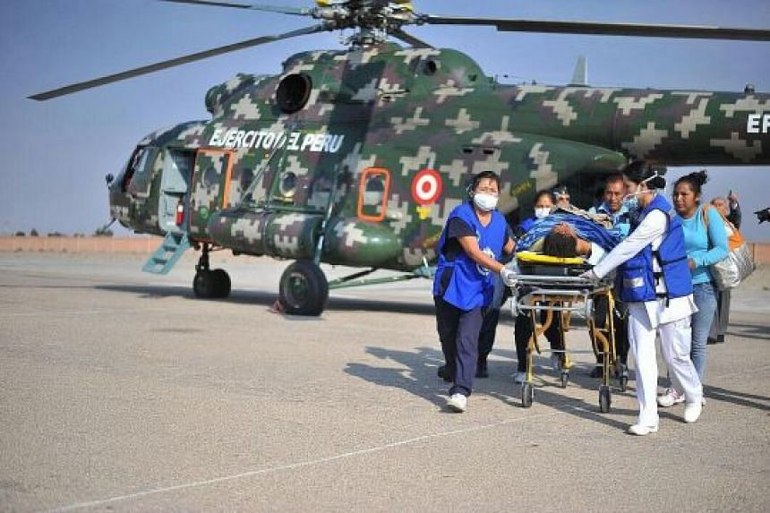 Rescuers used military helicopters to airlift 11 seriously injured passengers to the regional capital Arequipa. The authorities did not specify the number of injured.
