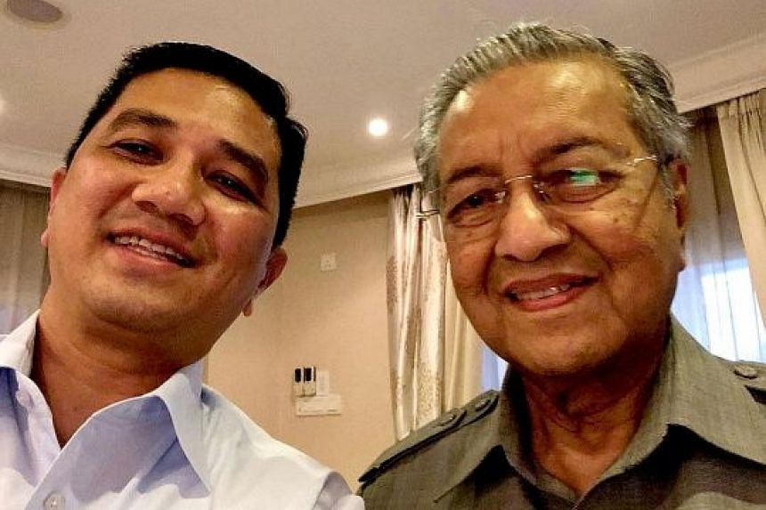 Selangor Menteri Besar Azmin Ali with Dr Mahathir Mohamad on Monday, when they met to narrow their differences.