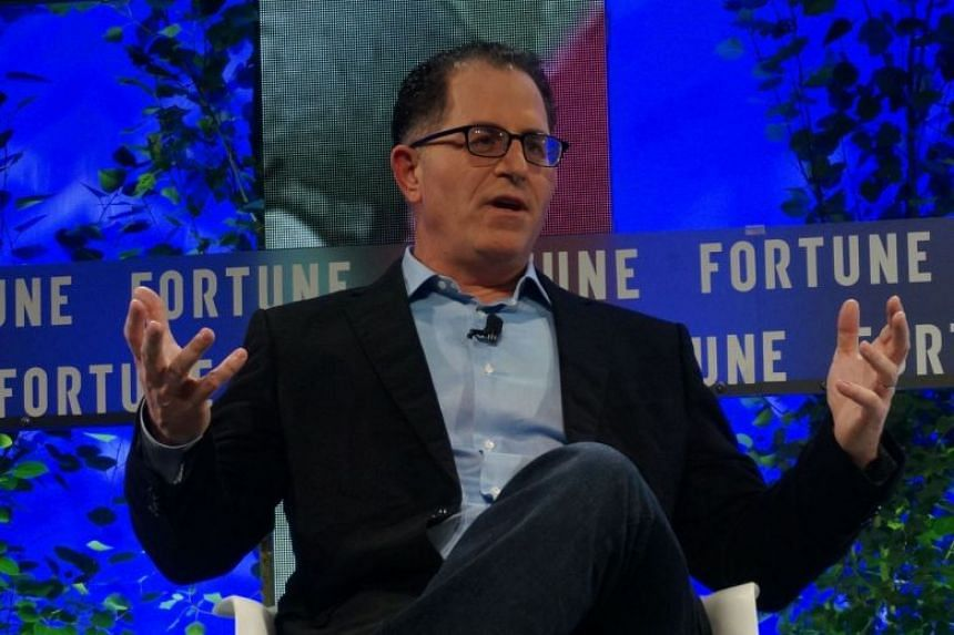 Michael Dell speaking at the Fortune Brainstorm Tech conference in July 2017.