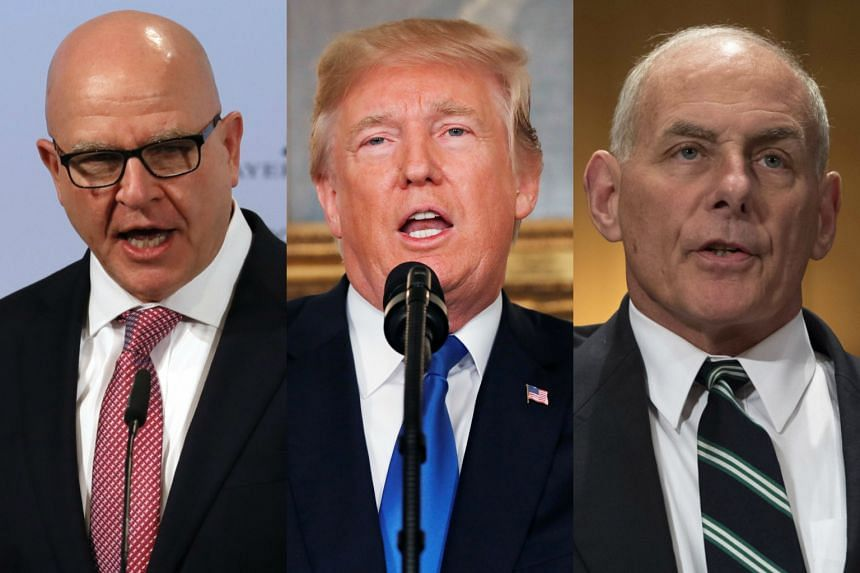 Both H.R. McMaster(left) and John Kelly (right) have chafed at US President Donald Trump's treatment of them in public and in private, which both at times have considered insulting.